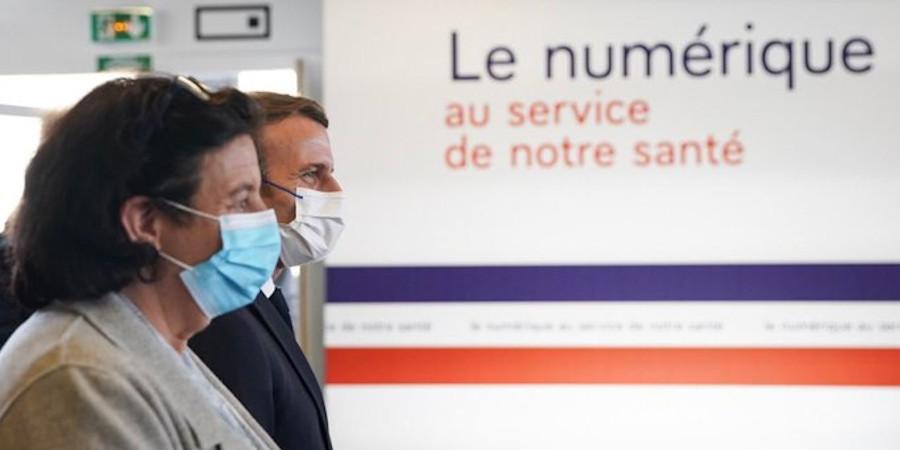 French President E. Macron launches Paris Santé Campus